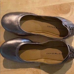Lucky Brand Echo 2 Metallic Foldable Ballet Flats